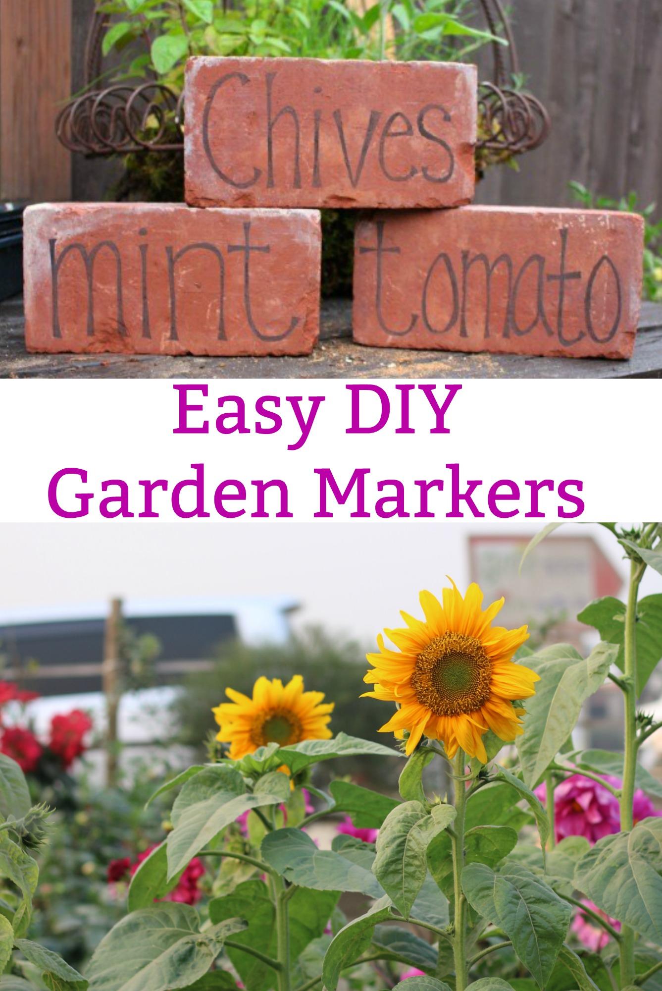 DIY Garden Markers Using Bricks e Hundred Dollars a Month