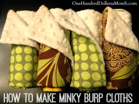 how to make minky burp cloths