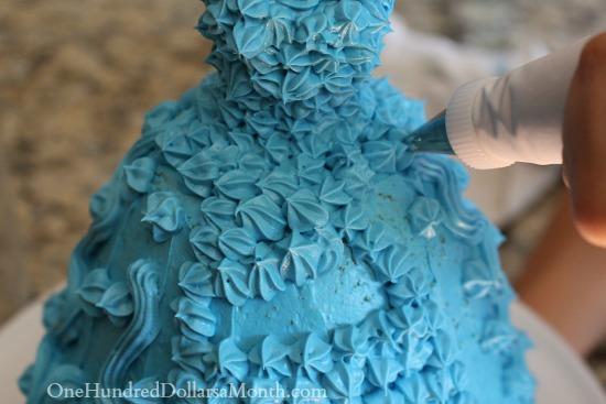 making a barbie cake