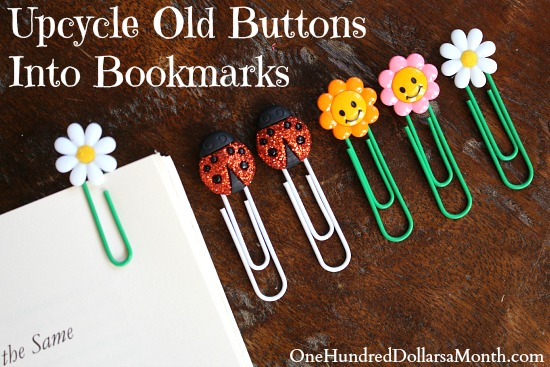 Upcycle Old Buttons Into Bookmarks