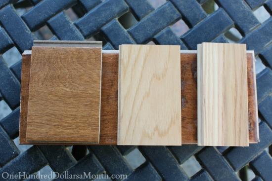 wood flooring samples