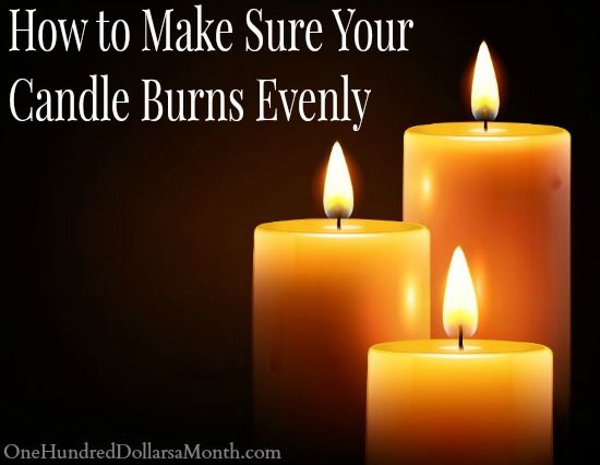 How to Make Sure Your Candle Burns Evenly