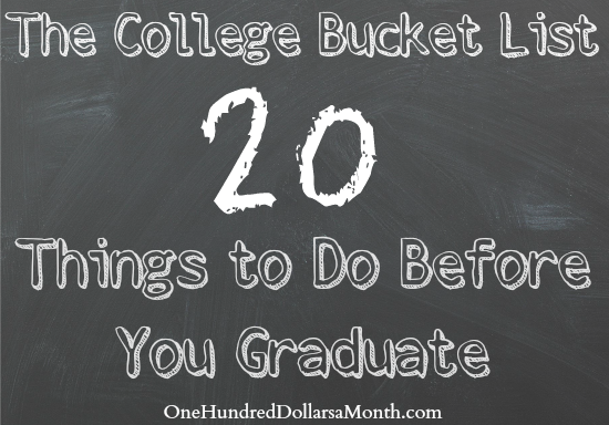 the college bucket list