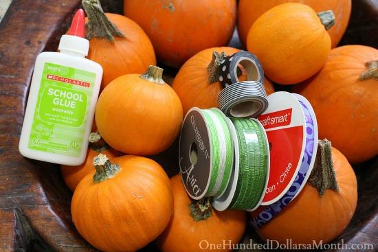 No Carve Pumpkin Decorating Idea