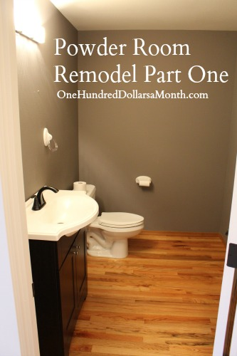 Powder Room Remodel Part One One Hundred Dollars A Month