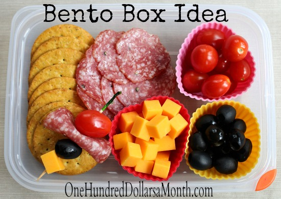 Bento Box Ideas For Teens Salami Olives Cheese Grape