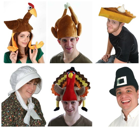 turkey pilgrim hats for Thanksgiving