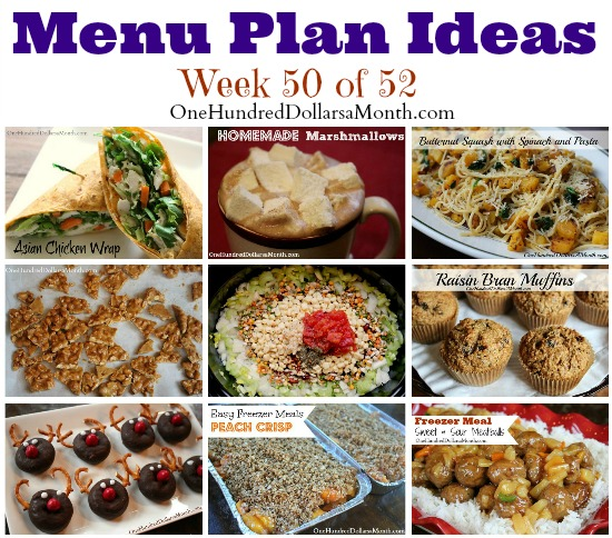menu plan ideas