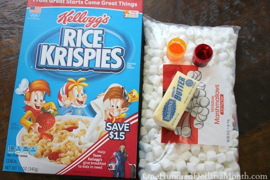 Basketball Rice Krispie Treats recipe