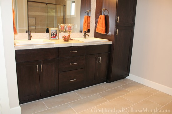 Master Bathroom Vanity Cabinets   Which Color Do You Prefer?   One Hundred  Dollars A Month