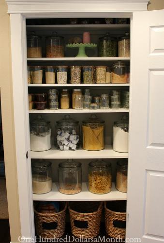 pantry glass jars