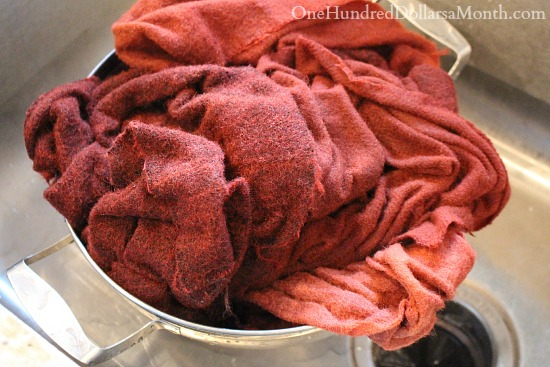 dyeing rug hooking wool