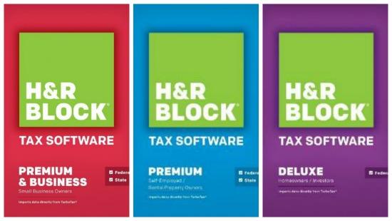 h r block tax software