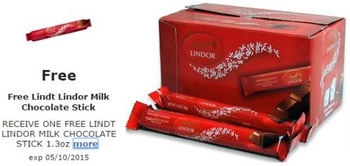 free lindt chocolate stick