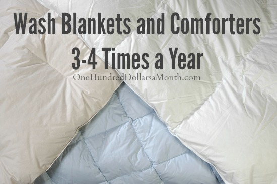 wash blankets and comforters