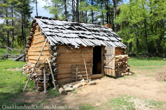 Frontier Culture Museum of Virginia in Staunton, Virginia log cabin