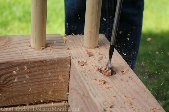 drilling holes garden boxes