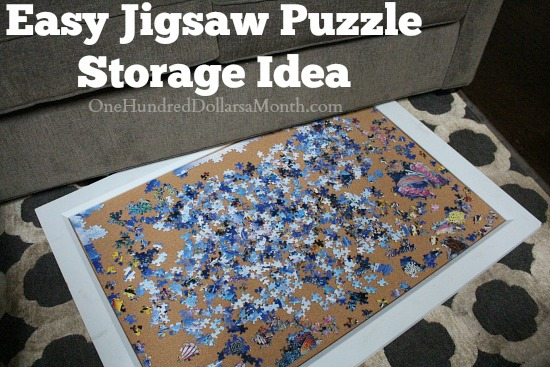 helpful tip easy jigsaw puzzle storage idea one hundred dollars a