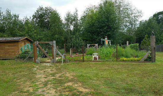 rustic garden set up
