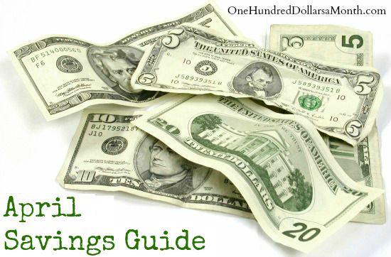 april savings guide