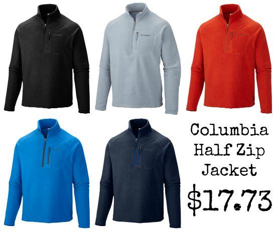 columbia half zip jacket