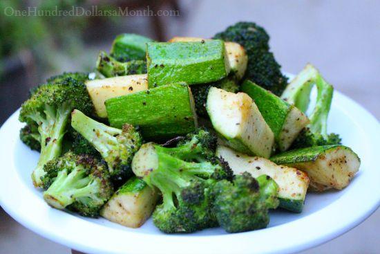 grilled zucchini and broccoli