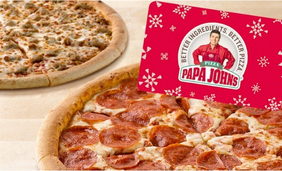 free papa johns pizza