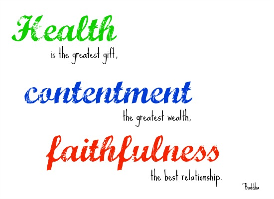 quotes - health is the greatest gift
