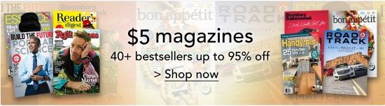 amazon magazine sale