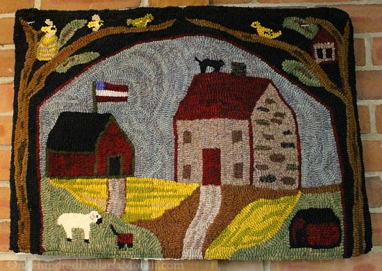 saltbox rug hooking patterns