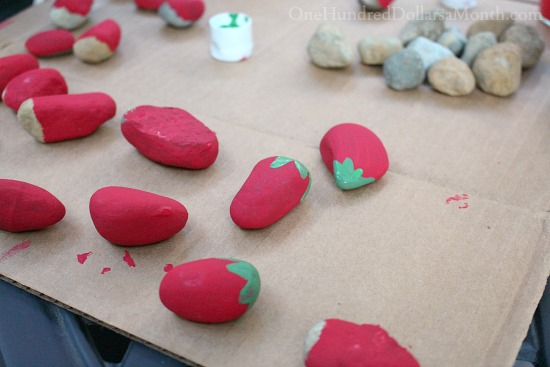 Painted Garden Rocks Scare Birds Away the Natural Way