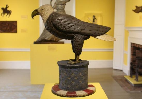 hand carved eagle folk art