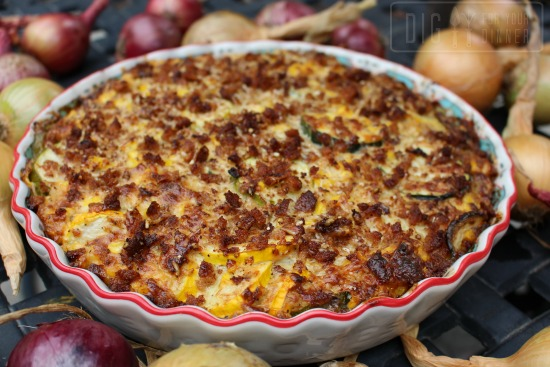 Cheesy Zucchini and Corn Casserole
