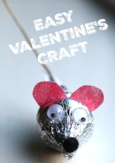 Easy Valentines Craft Hersheys Kiss Mice One Hundred