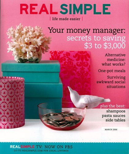 Real Simple magazine is a great resource for meal ideas, recipes, home organization, and entertainment. Get a great deal on a Real Simple subscription at green-host-demo.ga and make your life simpler! Save up to 66% off the cover price/5().